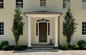 exterior design front stoop ideas with porch columns and lantern