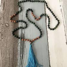 boho stone necklace images Mala 108 bead necklace prayer beads tassel necklaces boho stone jpg