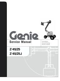 service genie z45 25 motor oil diesel engine