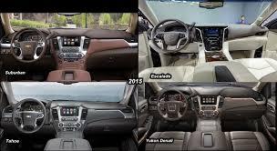 cadillac escalade 2015 interior benim otomobilim 2015 escalade vs 2015 chevy suburban vs 2015