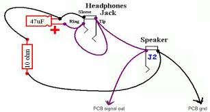 ruby headphone wiring with dpdt switch using one jack