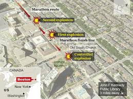 Copley Square Boston Map by Map How The Boston Marathon Bombings Happened The Independent
