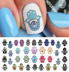 hamsa hand nail art decals multiple images nail stickers and eye