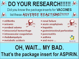 Anti Vaccine Meme - antivax myth vaccine inserts prove that vaccines are dangerous