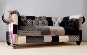 Chesterfield Patchwork Sofa Black White Chesterfield Patchwork Sofa Chesterfield Colorful