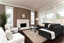 Dark Accent Wall In Small Bedroom Furniture Dark Grey Upholstered Sectopnal Sofa With Glass Round