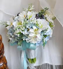 Wedding Flowers Blue And White Aliexpress Com Buy New Wedding Bouquet Flower Floral Bridal