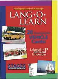 lang o learn real photo flash cards vehicles