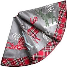 plaid tree skirt plaid silver christmas tree skirt oodles of christmas