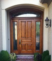 Excellent Wood Entry Doors In Dark Brown Paint Color Also Black