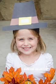 crafts for kids pilgram hat tutorial