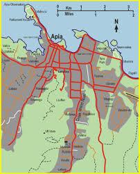 samoa in world map apia