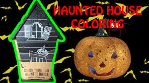 halloween haunted house chalk coloring fun kids craft