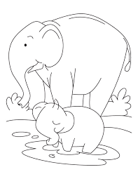 elephant baby elephant coloring pages download free elephant