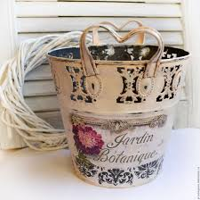 buy planter for flowers vintage decoupage on livemaster online shop