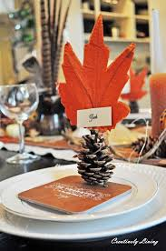 fall tablescape place cards creatively living blog