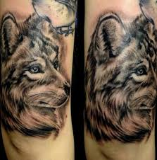 wolf portrait above right elbow by patrick mcdonagh from the