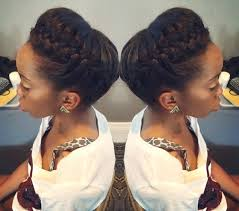 african fish style bolla hairstyle with braids crown braids are trendy this summer for black hair girls