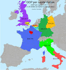 Western Europe Map by Gdp Per Capita Divides In Western Europe U2022 R Mapporn Europe
