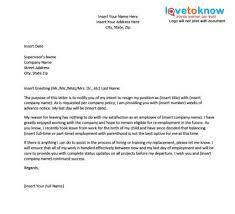 resignation letter format resignation letter for immediate