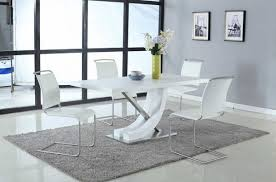 elegant table with white side chairs new york new york chintaly