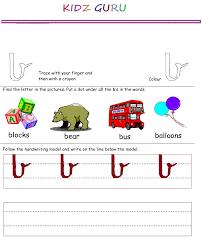 kindergarten worksheets printable handwriting worksheet alphabet b