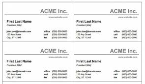 Business Card Template Software Free Blank And Printable Business Card Templates For Windows Word