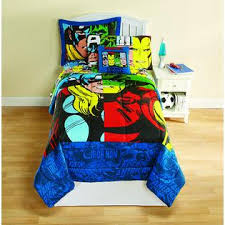 Superhero Twin Bedding Marvel Avengers Boy U0027s Twin Comforter