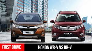 honda car comparison honda wrv vs honda brv crossover comparison drive
