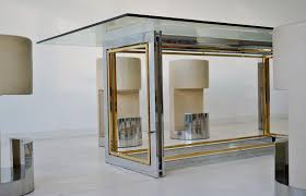 vintage hollywood regency table in gilded metal u0026 brass for sale
