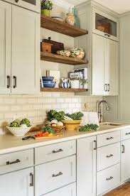 Green Subway Tile Backsplash Transitional Cream Beveled Kitchen Backsplash Tiles Transitional Kitchen