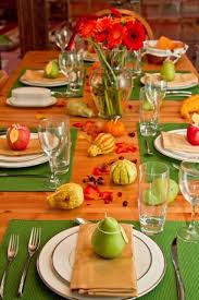 Simple Thanksgiving Table Settings Green Thanksgiving Table Decorations