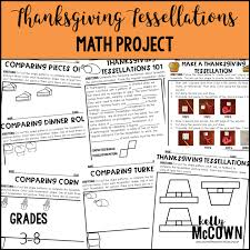 mccown thanksgiving tessellations math project grades 3 8
