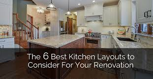 how to design own kitchen layout the 6 best kitchen layouts to consider for your renovation
