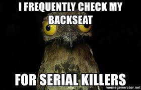 Potoo Bird Meme - i frequently check my backseat for serial killers disturbed potoo