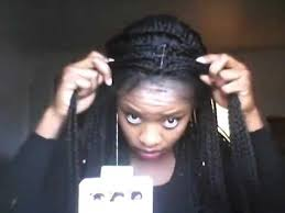 box braids hairstyle human hair or synthtic human hair color sensationnel empress synthetic braided lace front