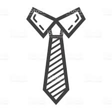 tie line icon business and necktie vector graphics a linear