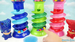 pj masks doll bubble gum game gumball candy slime toys learn