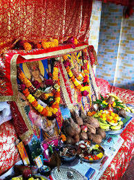 decoration for puja at home the optimist diary navratri 9 days of maa durga