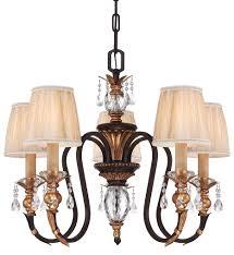 5 Light Bronze Chandelier Metropolitan Lighting N6645 258b Cristallo 5 Light