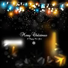 dark color christmas lights background design 123freevectors