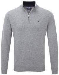 hackett men u0027s lambswool half zip sweater grey country attire