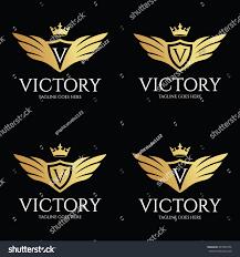 victory logo design template luxury logo stock vector 497463736