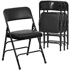 Padded Folding Chairs For Sale Amazon Com Cosco Fabric 4 Pack Folding Chair Black Kitchen U0026 Dining