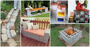 awesome ideas of how to decorate your yard with cinder blocks