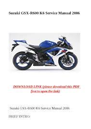 28 2006 suzuki gsxr 600 service manual 65141 1998 gsxr 1000