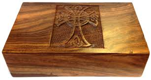 wooden celtic cross cross wooden box 5x8