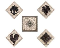 kitchen backsplash metal medallions kitchen backsplash murals mosaic medallions and accent tiles