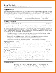 Paralegal Job Description Resume Legal Secretary Resume Sample Free Smartness Design Sample