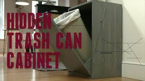 trash can attached to cabinet door how to make a hidden trash can cabinet danmade watch dan faires